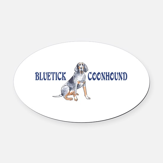 BLUETICK COONHOUND FULL CHEST Oval Car Magnet
