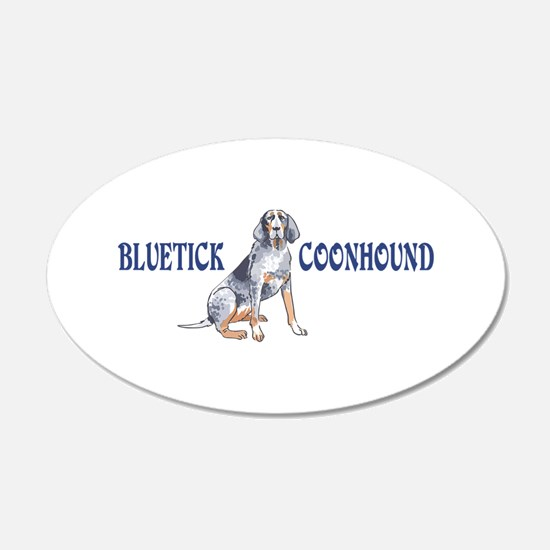 BLUETICK COONHOUND FULL CHEST Wall Decal