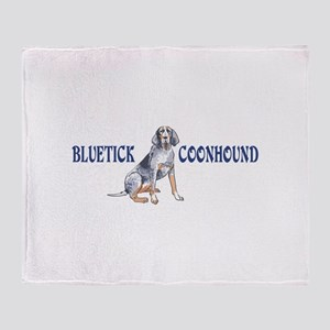 BLUETICK COONHOUND FULL CHEST Throw Blanket