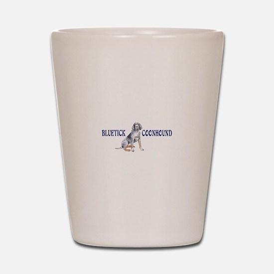 BLUETICK COONHOUND FULL CHEST Shot Glass