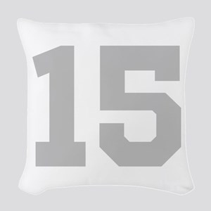 SILVER #15 Woven Throw Pillow