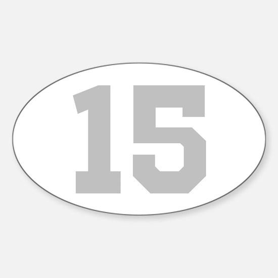 SILVER #15 Sticker (Oval)