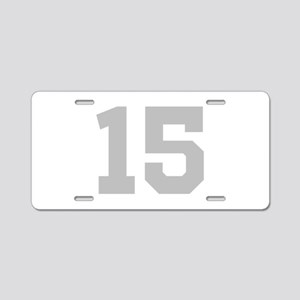 SILVER #15 Aluminum License Plate