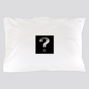 question mark? black and silver Pillow Case