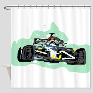 racing Shower Curtain