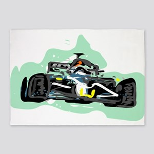 racing 5'x7'Area Rug