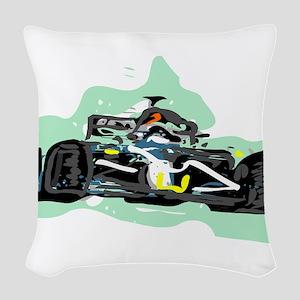 racing Woven Throw Pillow