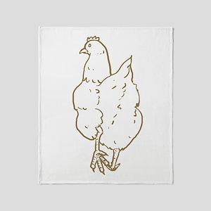Chicken Butt Throw Blanket
