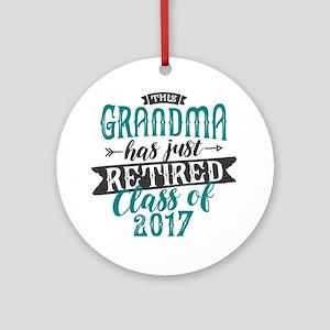 Retired Grandma Round Ornament