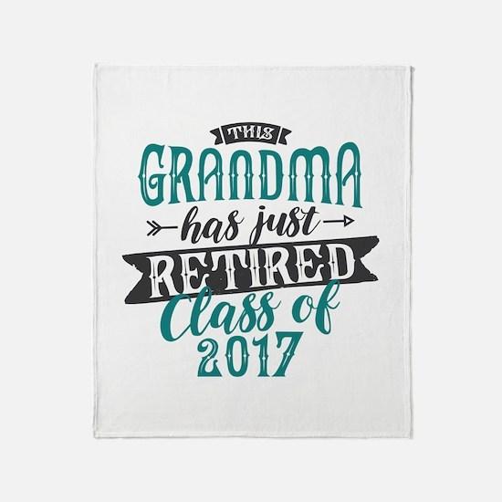 Retired Grandma Throw Blanket