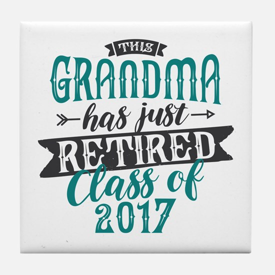 Retired Grandma Tile Coaster