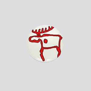 Cave Moose Mini Button