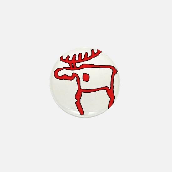 Cave Moose Mini Button