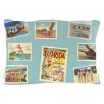 Vintage Beach Postcards Pillow Case