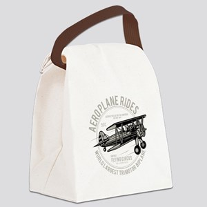 Biplane Canvas Lunch Bag