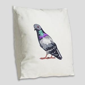 PIGEON Burlap Throw Pillow