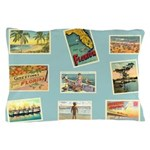 Vintage Florida Beach Pillow Case