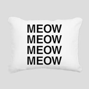 Meow Meow Meow Meow Rectangular Canvas Pillow