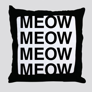 Meow Meow Meow Meow Throw Pillow