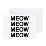 Meow Greeting Cards (10 Pack)