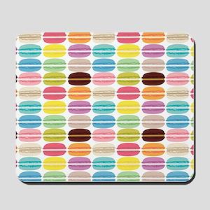 Rainbow French Macarons Pattern Mousepad