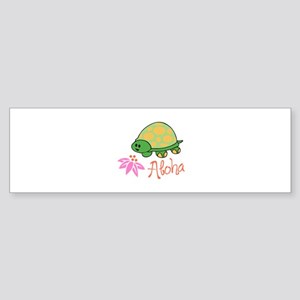 ALOHA TURTLE Bumper Sticker