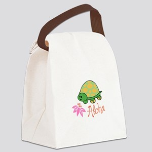 ALOHA TURTLE Canvas Lunch Bag