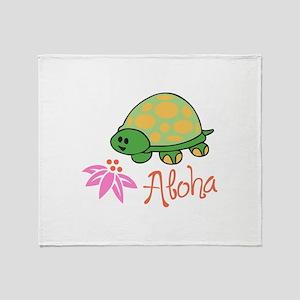 ALOHA TURTLE Throw Blanket