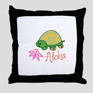ALOHA TURTLE Throw Pillow