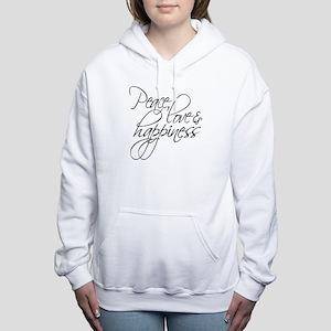 Peace Love Happiness - Women's Hooded Sweatshirt
