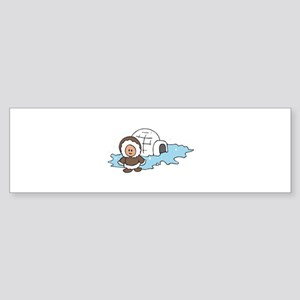 ESKIMO IGLOO Bumper Sticker