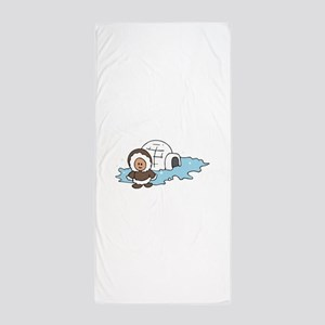 ESKIMO IGLOO Beach Towel
