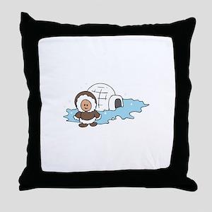 ESKIMO IGLOO Throw Pillow