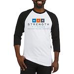 MaxStrength Fitness Logo Baseball Jersey