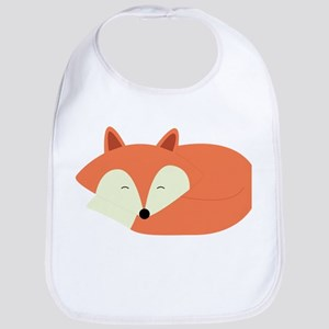 Sleepy Red Fox Bib