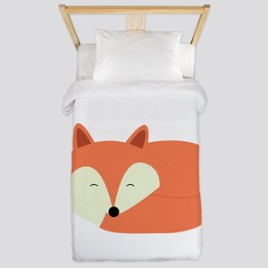 Sleepy Red Fox Twin Duvet