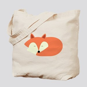 Sleepy Red Fox Tote Bag