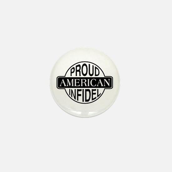 Proud American Infidel Mini Button