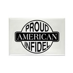Proud American Infidel Rectangle Magnet (10 pack)