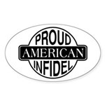 Proud American Infidel Oval Sticker