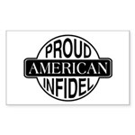Proud American Infidel Rectangle Sticker