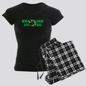 Brazilian Jiu-Jitsu 001 Women's Dark Pajamas