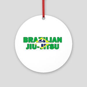 Brazilian Jiu-Jitsu 001 Ornament (Round)