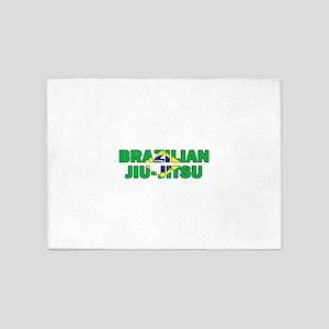 Brazilian Jiu-Jitsu 001 5'x7'Area Rug