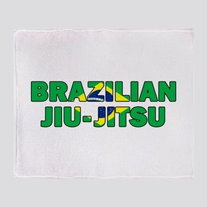 Brazilian Jiu-Jitsu 001 Throw Blanket