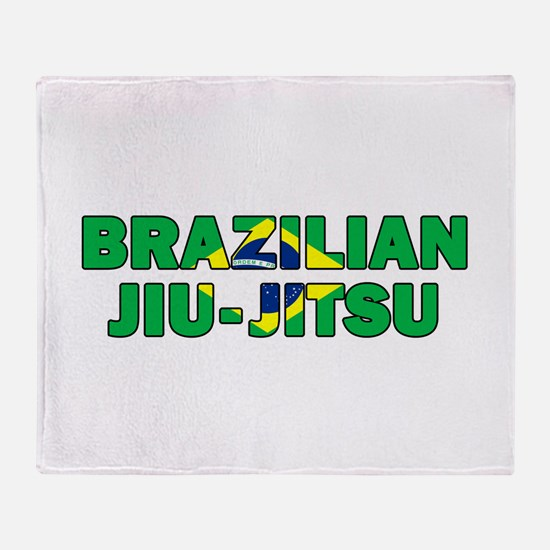 Brazilian Jiu-Jitsu 001 Throw Blanket