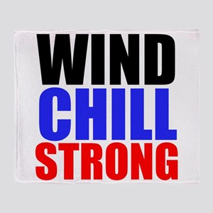 Wind Chill Strong Throw Blanket