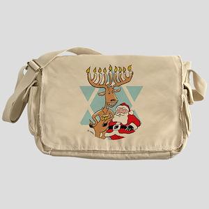 Jews 4 Santa No Text Black Backgroun Messenger Bag