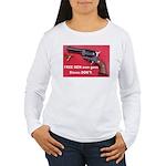 Free Men Own Guns Women's Long Sleeve T-Shirt