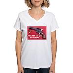 Free Men Own Guns Women's V-Neck T-Shirt